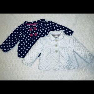 babyGap coat & Carter's baby sweater